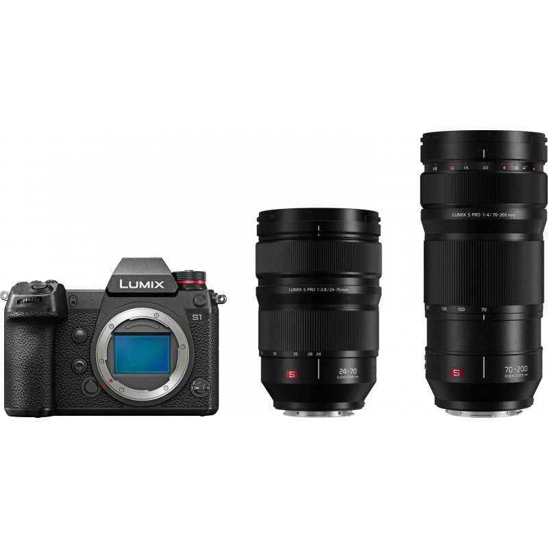 Panasonic Lumix DC-S1 + 24-70mm f/2.8 + 70-200 f/4