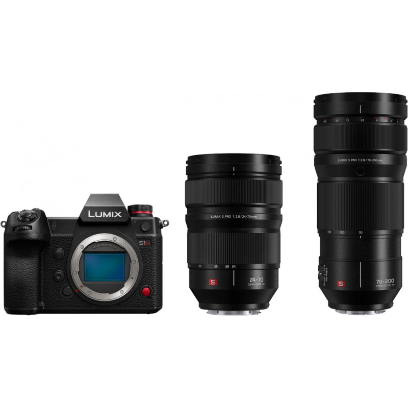 Panasonic Lumix DC-S1H + 24-70mm f/2.8 + 70-200mm f/2.8