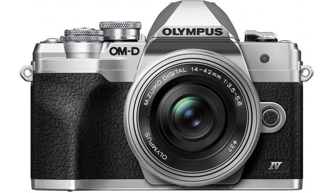 Olympus OM-D E-M10 Mark IV + 14-42 мм EZ Kit, серебристый