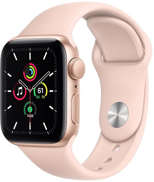 Apple Watch SE GPS 40mm Sport Band, gold/pink san..