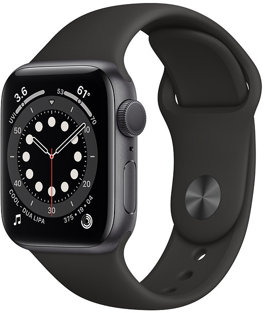 Apple Watch 6 GPS 40mm Sport Band, space..