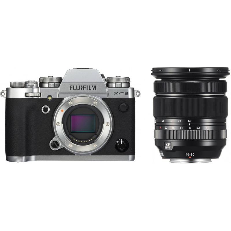 Fujifilm X-T3 + 16-80mm Kit, hõbedane
