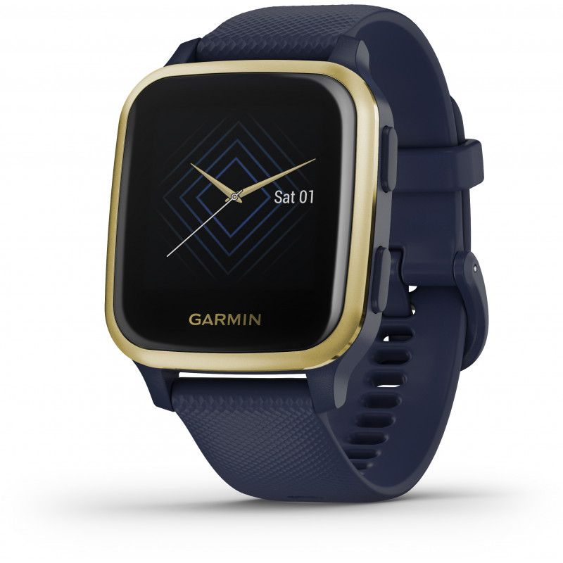 Garmin Venu Sq Music, navy/light gold