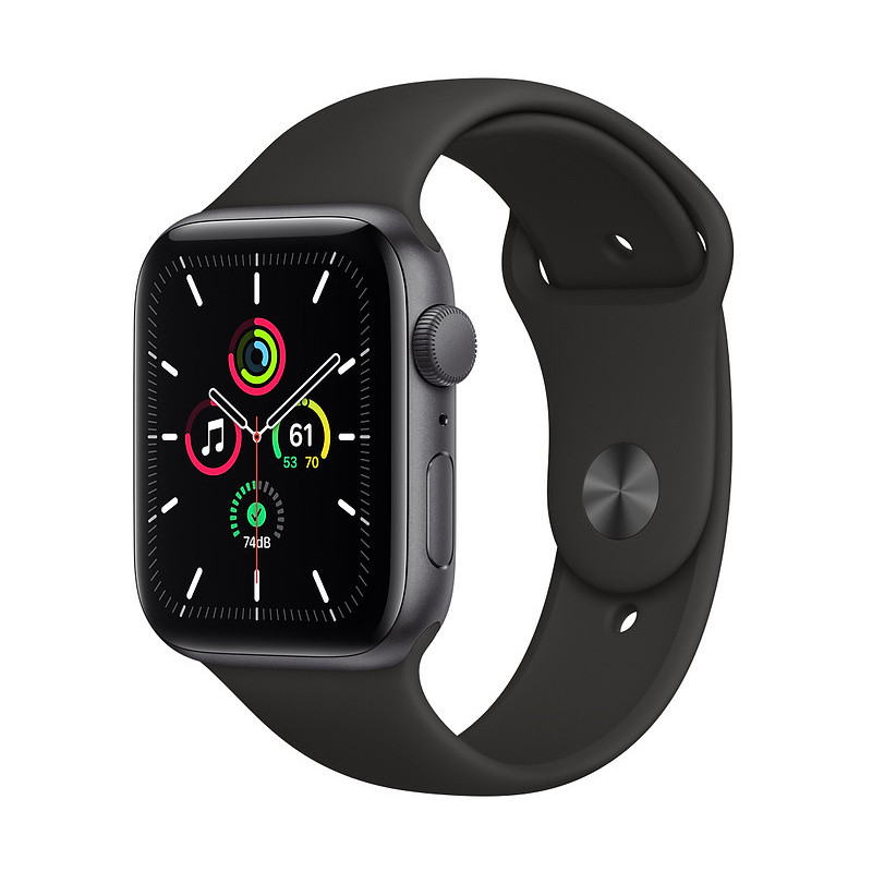 Apple Watch SE GPS 44mm Sport Band, space gray/black LT