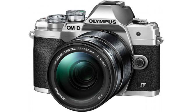Olympus OM-D E-M10 Mark IV + 14-150mm Kit, серебристый/черный