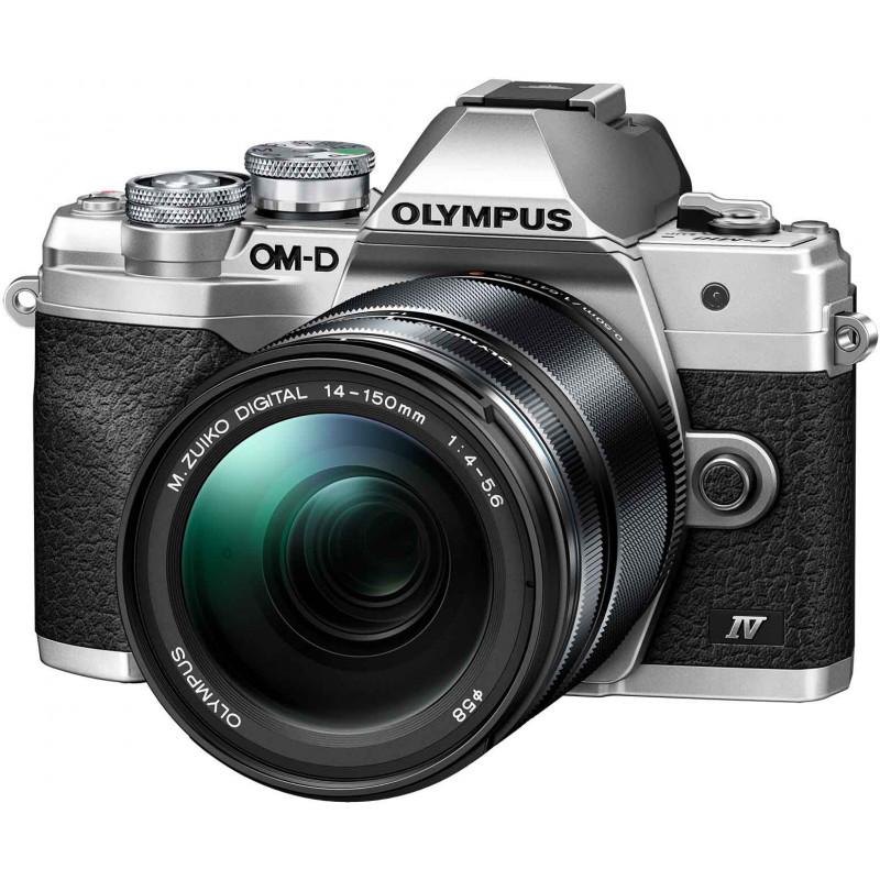 Olympus OM-D E-M10 Mark IV + 14-150mm Kit, hõbedane/must