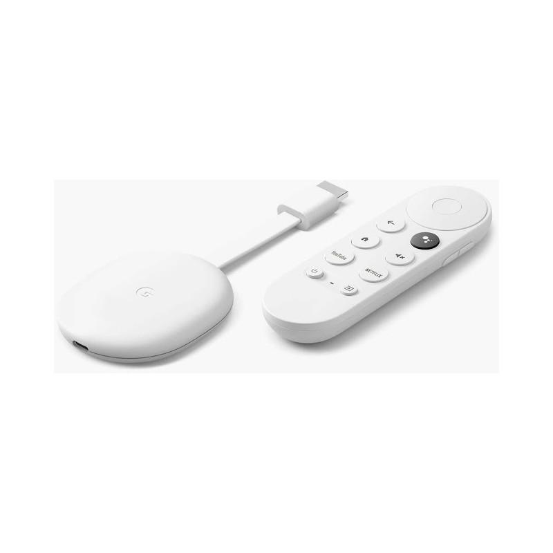 Google Chromecast 4K + Google TV, valge