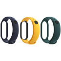 Xiaomi Mi Band 5/6 wristband, blue/yellow/green 3pcs