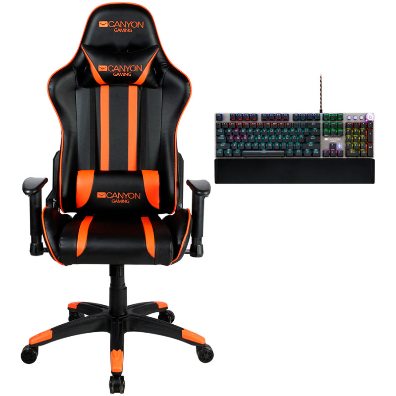 Canyon Gaming Chair Fobos CND-SGCH3+ gift Canyon Nightfall Mechanical Gaming Keyboard