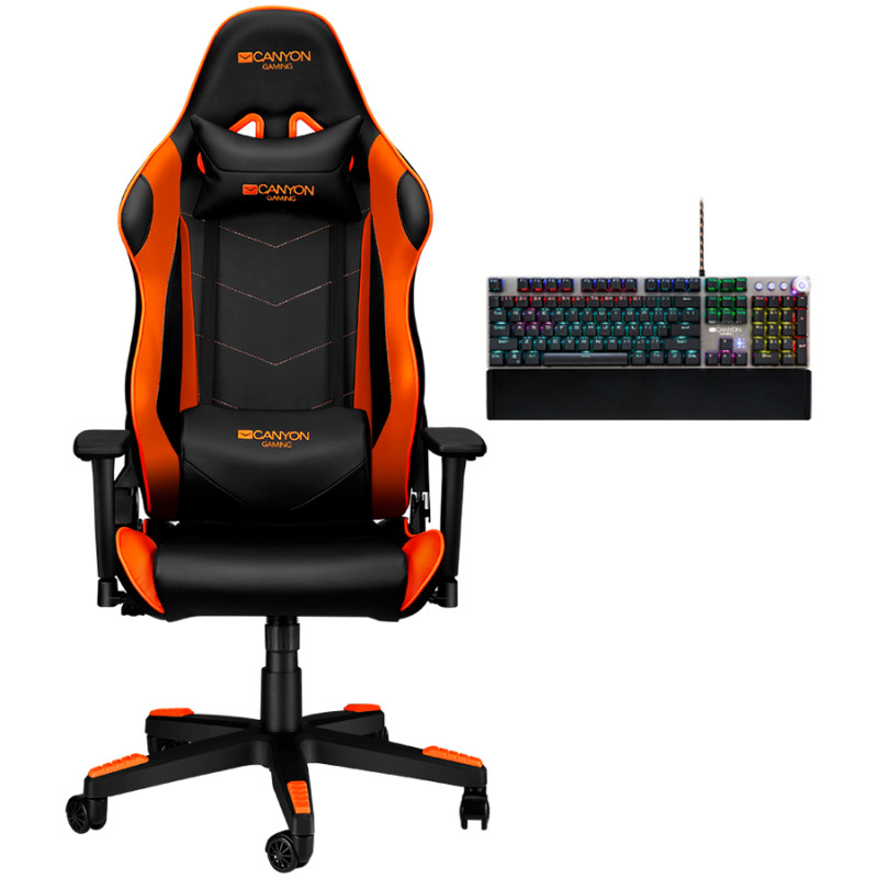 Canyon Gaming Chair Deimos CND-SGCH4 + gift Canyon Nightfall Mechanical Gaming Keyboard