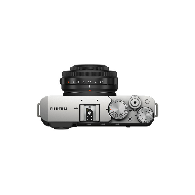 Fujifilm X-E4 + 27mm f/2.8 Kit, silver