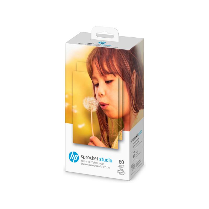 HP fotopaber + tindikassett Sprocket Studio 4x6