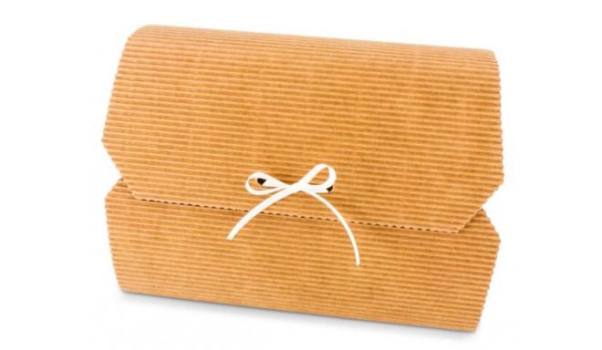 Подарочная коробка с бантом 165x110x40 мм, коричневая