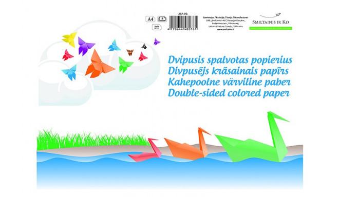 SMLT двусторонняя цветная бумага A4 8 листов