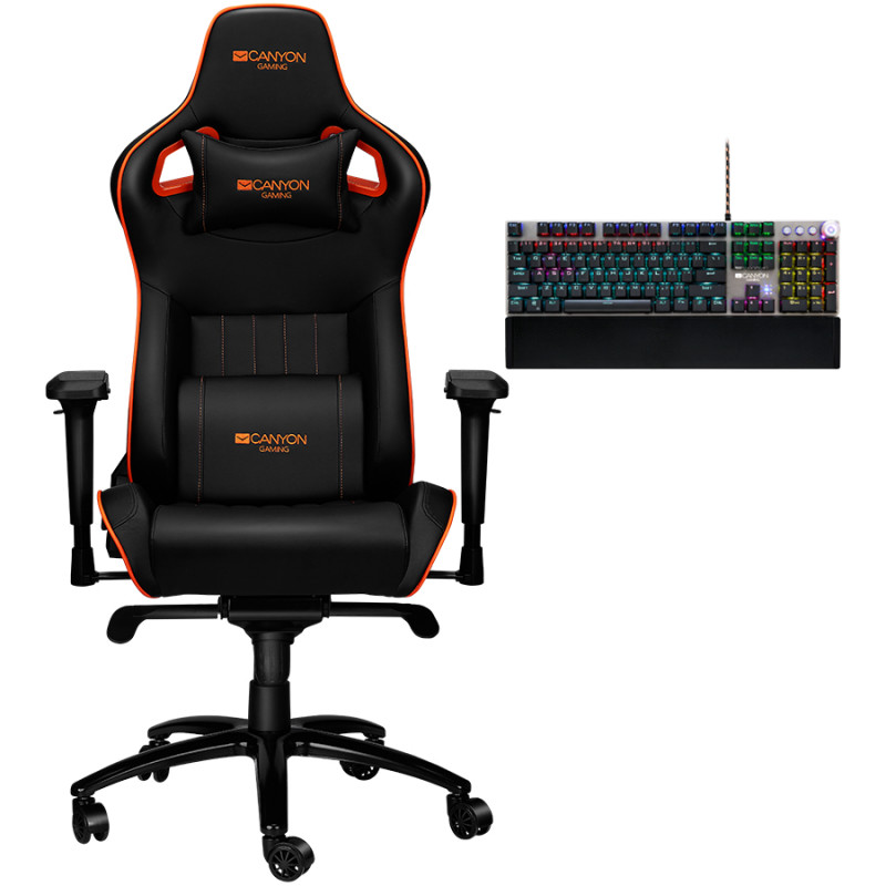Canyon mänguritool + klaviatuur Corax CND-SGCH5 + Canyon Nightfall Mechanical Gaming Keyboard