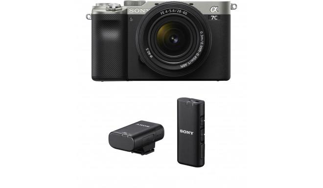 Sony a7C + 28-60mm Kit + Sony juhtmevaba mikrofon, hõbedane