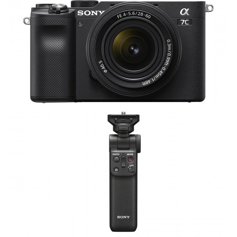 Sony a7C + 28-60mm Kit + Sony käepide-ministatiiv, must