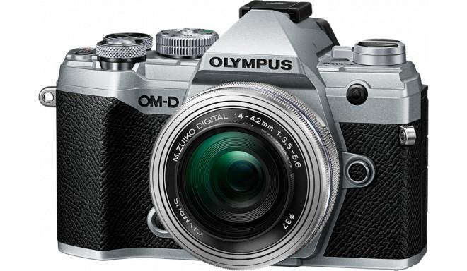 Olympus OM-D E-M5 Mark III + 14-42mm Kit, hõbedane/hõbedane