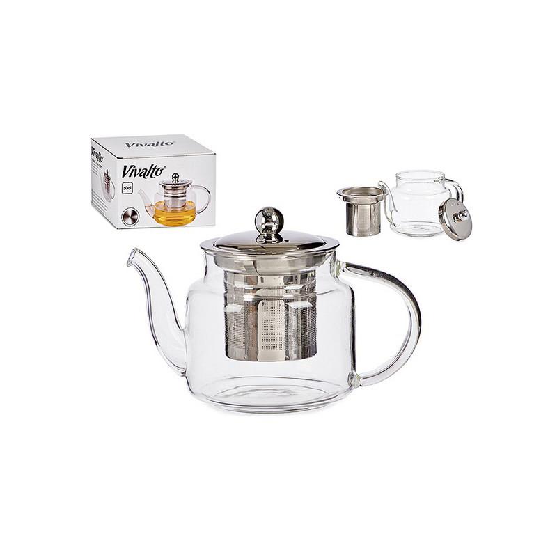 Vivalto teekann, läbipaistev