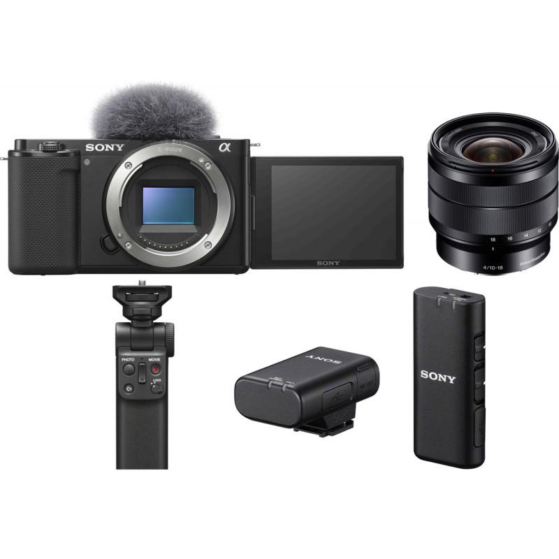 Sony ZV-E10 + 10-18mm f/4.0 + käepide + juhtmevaba mikrofon