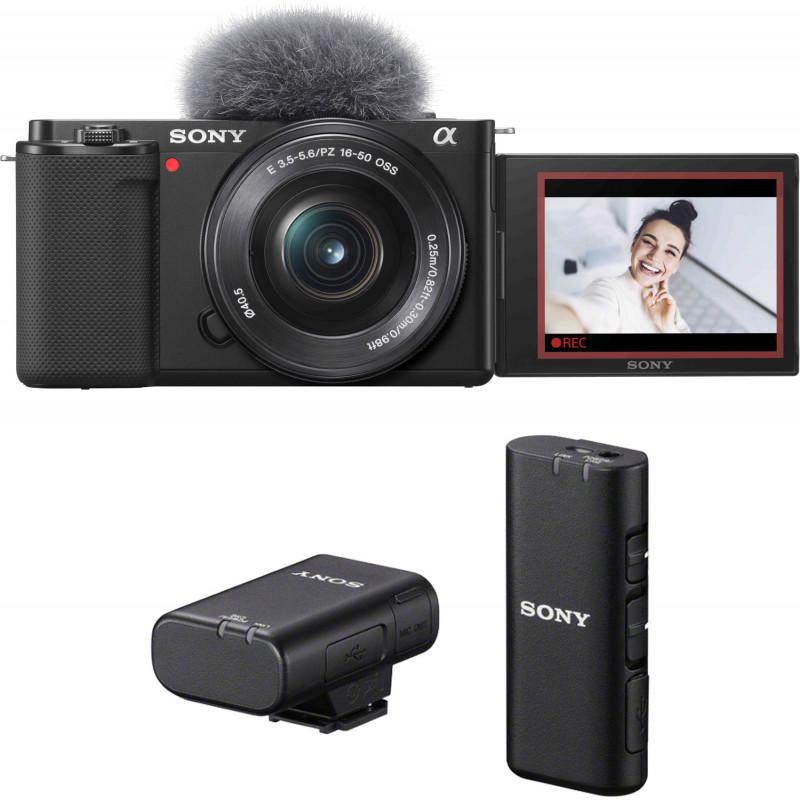 Sony ZV-E10 + 16-50mm + juhtmevaba mikrofon