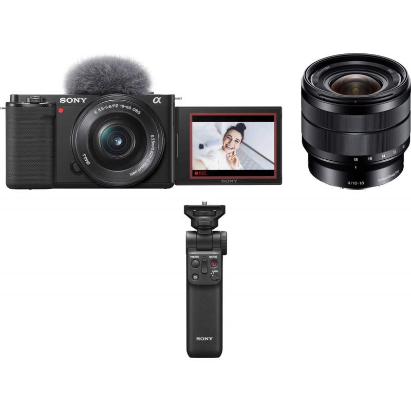 Sony ZV-E10 + 16-50mm + 10-18mm + käepide