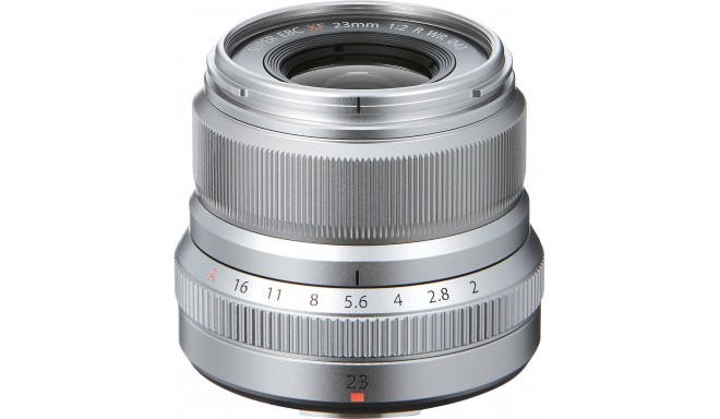 Fujinon XF 23 мм f/2.0 R WR объектив, серебристый