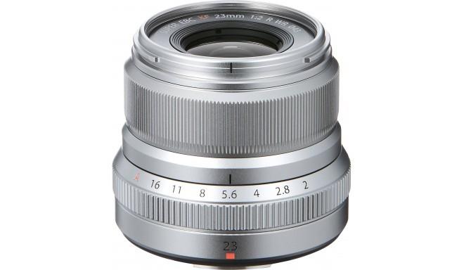 Fujinon XF 23mm f/2.0 R WR objektīvs, sudrabots