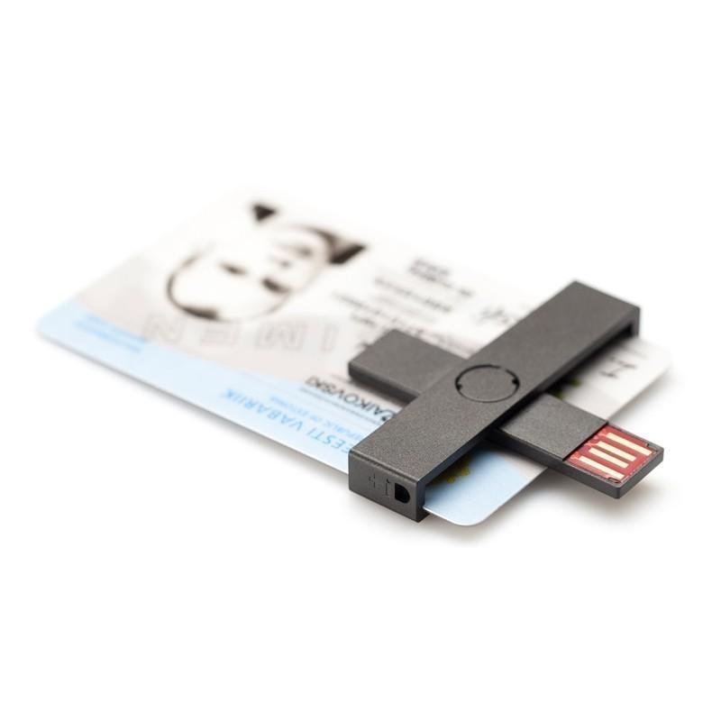 Id Smart Card Reader Usb Blister Black Smartcard