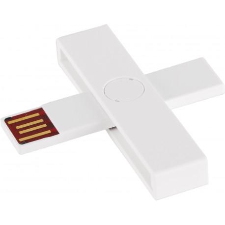 +ID viedkaršu lasītājs USB Blister, balts