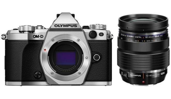 Olympus OM-D E-M5 Mark II + 12-40mm Pro Kit, hõbedane