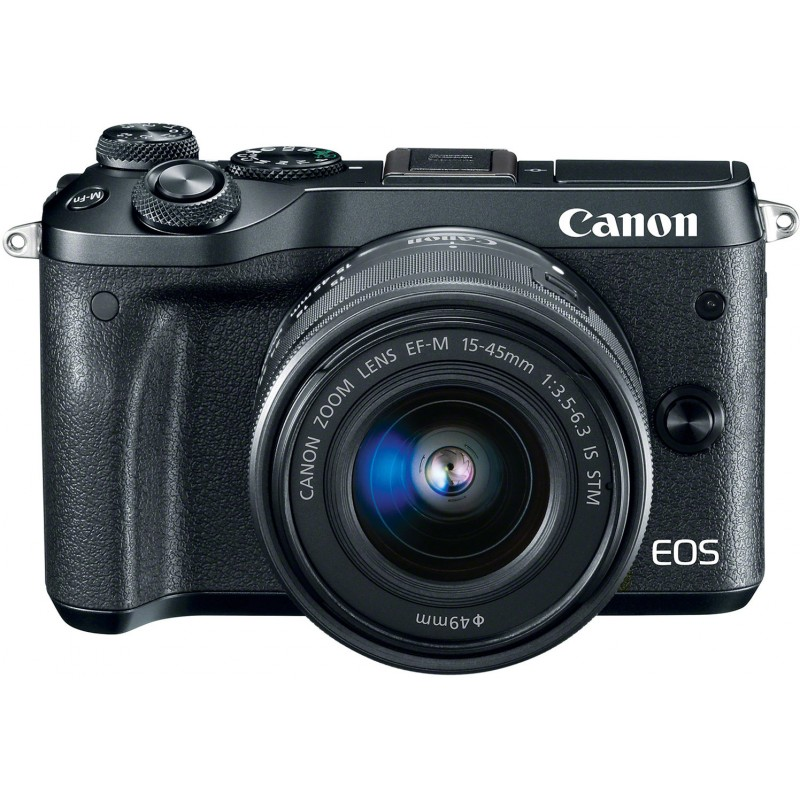 Canon EOS M6 + EF-M 15-45mm IS STM Kit, black