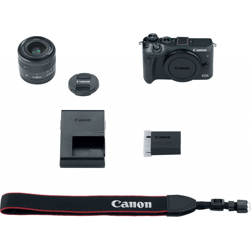 Canon EOS M6 + EF-M 15-45mm IS STM Kit, must