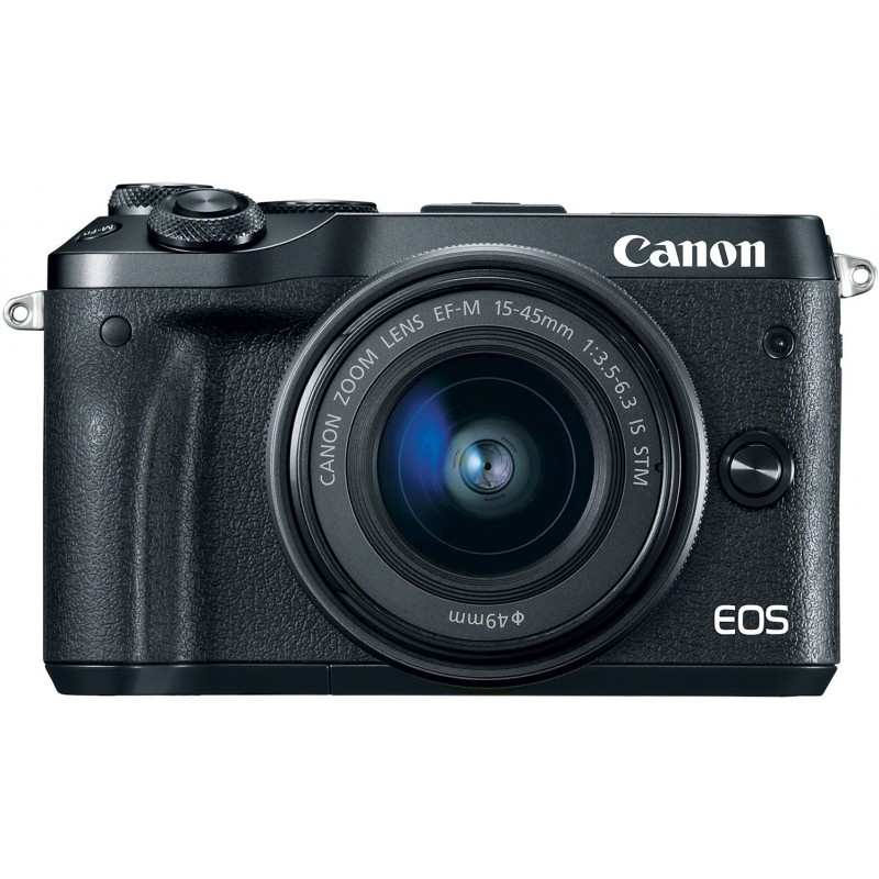 Canon EOS M6 + EF-M 15-45 мм IS STM Kit, черный