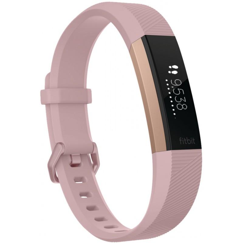 Fitbit трекер активности Alta HR S, розовый/золотистый