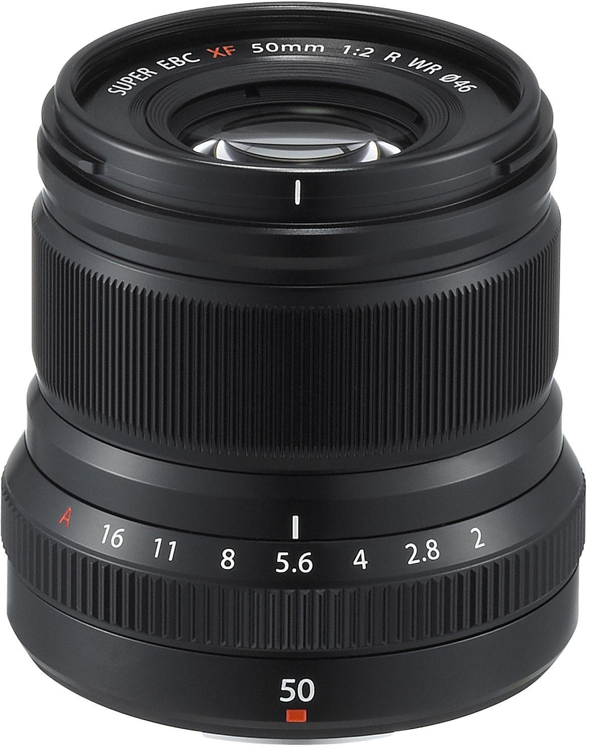 Fujinon XF 50mm f/2 R WR objektiiv, must
