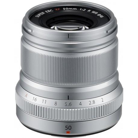 Fujinon XF 50mm f/2 R WR lens, silver