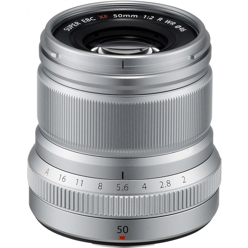 Fujinon XF 50mm f/2 R WR objektiiv, hõbedane
