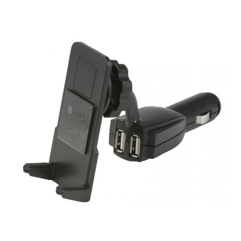 440945358a3 Telefonihoidja-laadija, 2 USB pesa - USB laadijad - Photopoint