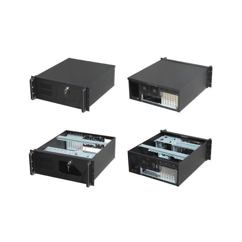 Gembird 19'' Rack-mount server chassis (4U), 7 PCI on/off, black