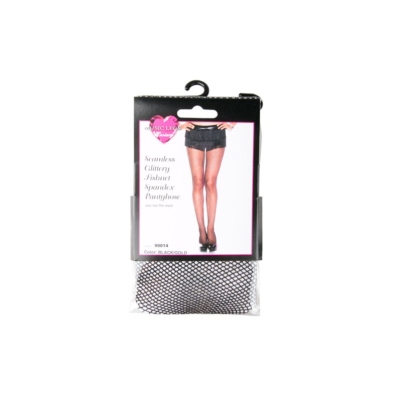5fb7c8f946fea Fishnet Tights With Glitter - Black - Stockings & socks - Photopoint