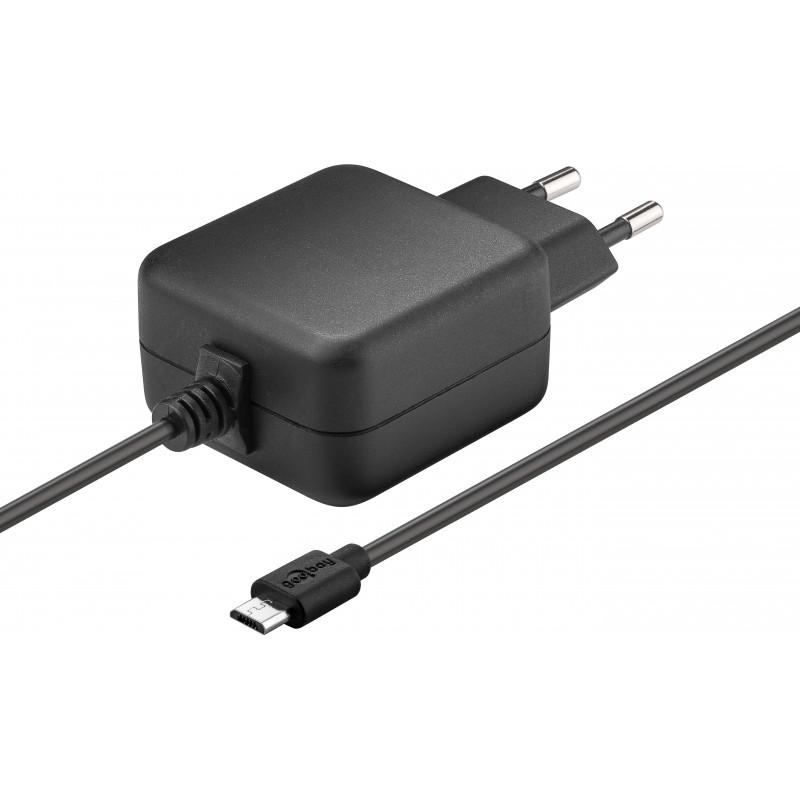 Goobay wall charger Raspberry Pi microUSB 2 5A, black (71889)