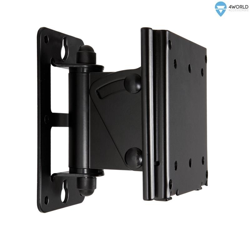 4world wall mount for lcd 15 39 39 32 39 39 vesa 75 100 tilt swivel max load 30kg blk tv wall mounts. Black Bedroom Furniture Sets. Home Design Ideas