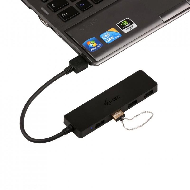 i-tec USB 3.0 SLIM HUB 4 Port passive - Black
