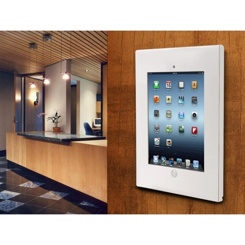 maclean mc676 wall mount holder for tablet for public displays lock antitheft - Tablet Wall Mount