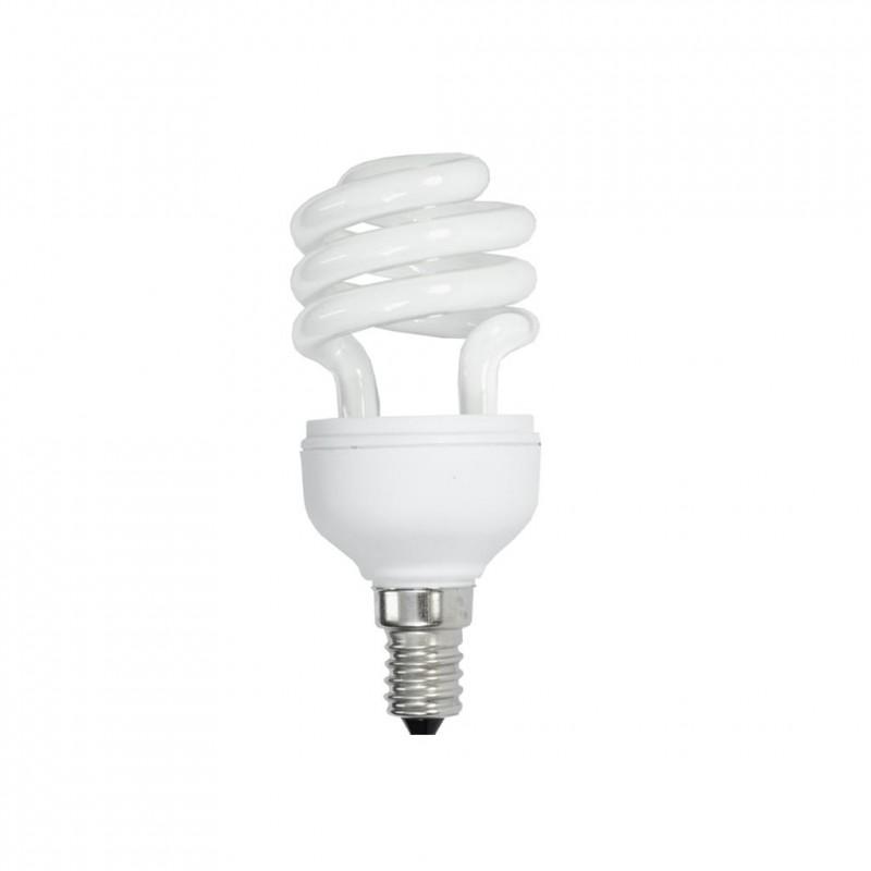 ART fluorescent bulb ''spiral'', 15W, E14, 6.5mm, WW, (equivalent 75W)