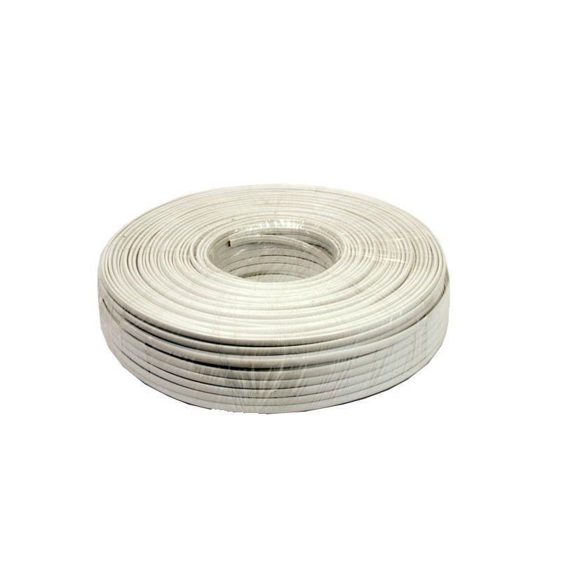 Gembird telephone cord Stranded 2-wire 100m flat, white - Cables ...