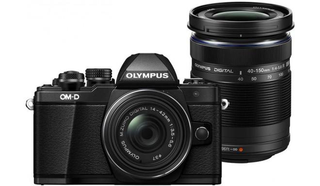 Olympus OM-D E-M10 Mark II + 14-42mm R + 40-150mm Kit, melns