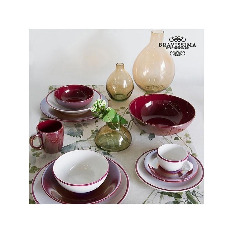 Tableware (19 pcs) White Burgundy - Kitchenu0027s Deco Collection by Bravissima Kitchen  sc 1 st  Photopoint & Tableware (19 pcs) White Burgundy - Kitchenu0027s Deco Collection by ...