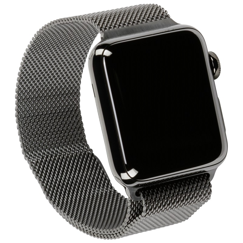 Apple Watch 2 42mm Steel Case with Space Black Milanese ...